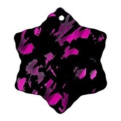 Painter Was Here   Magenta Snowflake Ornament (2 Side) by Valentinaart