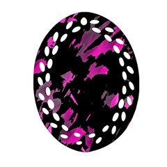 Painter Was Here   Magenta Ornament (oval Filigree)  by Valentinaart