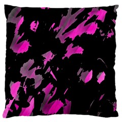 Painter Was Here - Magenta Large Cushion Case (two Sides) by Valentinaart