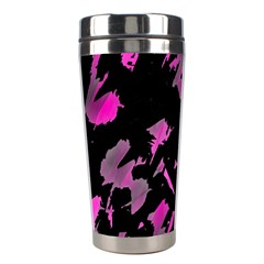 Painter Was Here   Magenta Stainless Steel Travel Tumblers by Valentinaart
