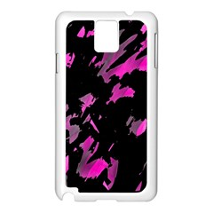 Painter Was Here   Magenta Samsung Galaxy Note 3 N9005 Case (white) by Valentinaart