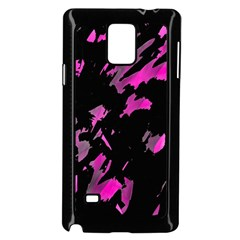 Painter Was Here   Magenta Samsung Galaxy Note 4 Case (black) by Valentinaart