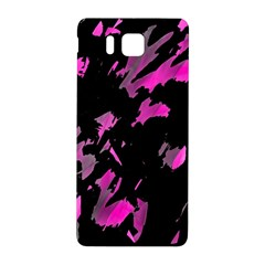 Painter Was Here   Magenta Samsung Galaxy Alpha Hardshell Back Case by Valentinaart
