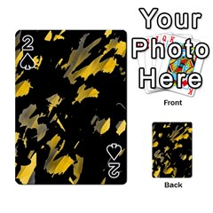 Painter Was Here   Yellow Playing Cards 54 Designs