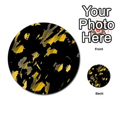Painter Was Here   Yellow Multi Purpose Cards (round)  by Valentinaart