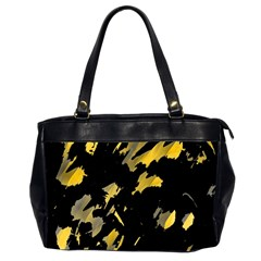 Painter Was Here   Yellow Office Handbags (2 Sides)  by Valentinaart
