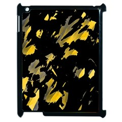 Painter Was Here   Yellow Apple Ipad 2 Case (black) by Valentinaart