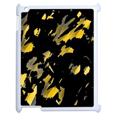 Painter Was Here   Yellow Apple Ipad 2 Case (white) by Valentinaart