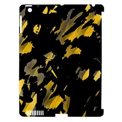 Painter Was Here   Yellow Apple Ipad 3/4 Hardshell Case (compatible With Smart Cover) by Valentinaart