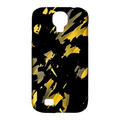 Painter Was Here   Yellow Samsung Galaxy S4 Classic Hardshell Case (pc+silicone) by Valentinaart