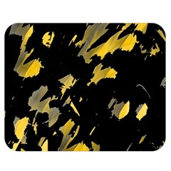 Painter Was Here   Yellow Double Sided Flano Blanket (medium)  by Valentinaart