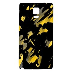 Painter Was Here   Yellow Galaxy Note 4 Back Case by Valentinaart