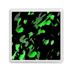 Painter Was Here   Green Memory Card Reader (square)  by Valentinaart