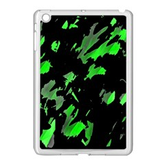 Painter Was Here   Green Apple Ipad Mini Case (white) by Valentinaart