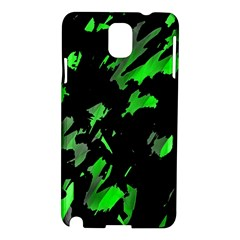 Painter Was Here   Green Samsung Galaxy Note 3 N9005 Hardshell Case by Valentinaart