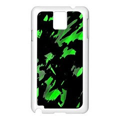 Painter Was Here - Green Samsung Galaxy Note 3 N9005 Case (white) by Valentinaart