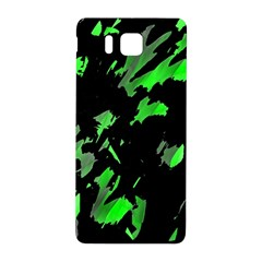 Painter Was Here   Green Samsung Galaxy Alpha Hardshell Back Case by Valentinaart