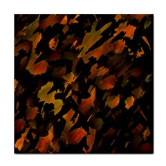 Abstract Autumn  Tile Coasters by Valentinaart