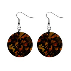 Abstract Autumn  Mini Button Earrings by Valentinaart