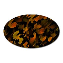 Abstract Autumn  Oval Magnet by Valentinaart