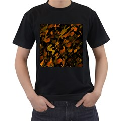Abstract Autumn  Men s T Shirt (black) (two Sided) by Valentinaart