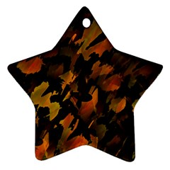 Abstract Autumn  Star Ornament (two Sides)  by Valentinaart
