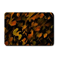 Abstract Autumn  Small Doormat  by Valentinaart