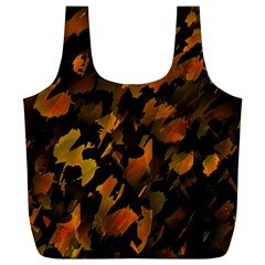 Abstract Autumn  Full Print Recycle Bags (l)  by Valentinaart