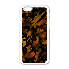 Abstract Autumn  Apple Iphone 6/6s White Enamel Case by Valentinaart