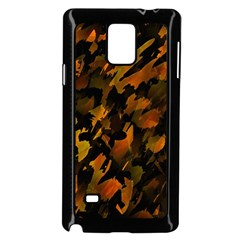 Abstract Autumn  Samsung Galaxy Note 4 Case (black) by Valentinaart