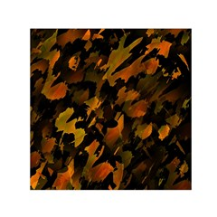 Abstract Autumn  Small Satin Scarf (square) by Valentinaart