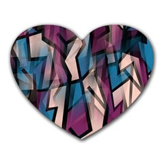 Purple High Art Heart Mousepads by Valentinaart