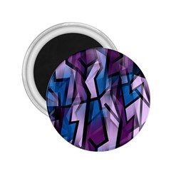 Purple Decorative Abstract Art 2 25  Magnets by Valentinaart