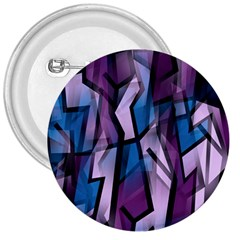 Purple Decorative Abstract Art 3  Buttons by Valentinaart
