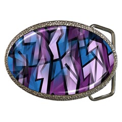 Purple Decorative Abstract Art Belt Buckles by Valentinaart