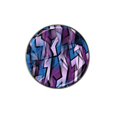 Purple Decorative Abstract Art Hat Clip Ball Marker (10 Pack) by Valentinaart