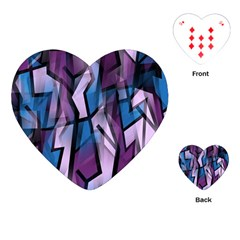 Purple Decorative Abstract Art Playing Cards (heart)  by Valentinaart