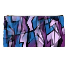 Purple Decorative Abstract Art Pencil Cases by Valentinaart