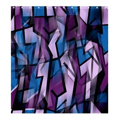 Purple Decorative Abstract Art Shower Curtain 66  X 72  (large)  by Valentinaart