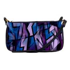 Purple Decorative Abstract Art Shoulder Clutch Bags by Valentinaart