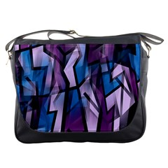 Purple Decorative Abstract Art Messenger Bags by Valentinaart