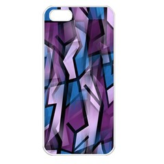 Purple Decorative Abstract Art Apple Iphone 5 Seamless Case (white) by Valentinaart
