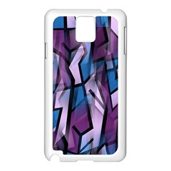 Purple Decorative Abstract Art Samsung Galaxy Note 3 N9005 Case (white) by Valentinaart