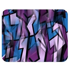 Purple Decorative Abstract Art Double Sided Flano Blanket (medium)  by Valentinaart
