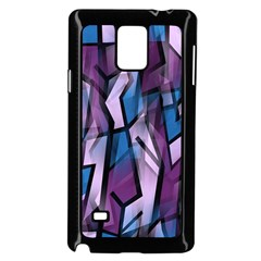 Purple Decorative Abstract Art Samsung Galaxy Note 4 Case (black) by Valentinaart