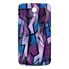 Purple Decorative Abstract Art Samsung Galaxy Mega I9200 Hardshell Back Case by Valentinaart
