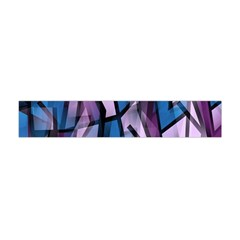 Purple Decorative Abstract Art Flano Scarf (mini) by Valentinaart