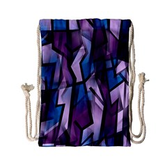 Purple Decorative Abstract Art Drawstring Bag (small) by Valentinaart