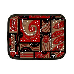 Red And Brown Abstraction Netbook Case (small)