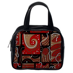 Red And Brown Abstraction Classic Handbags (one Side) by Valentinaart